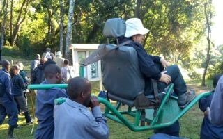 Using Sedan Seat Chairs in Bwindi