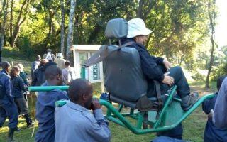 Using Sedan Seat Chairs in Bwindi